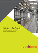 Kick plates-Toe Boards Lockinex ® Complies to  BS EN ISO 14122-3:2001 Satisfies  BS 4590-0:2006+A1:2012